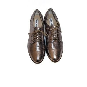 Steve Madden Addan Pewter - Oxfords - Womens Shoes